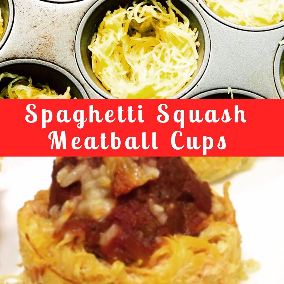 Spaghetti Squash Meatball Cups 21 Day Fix Approved
