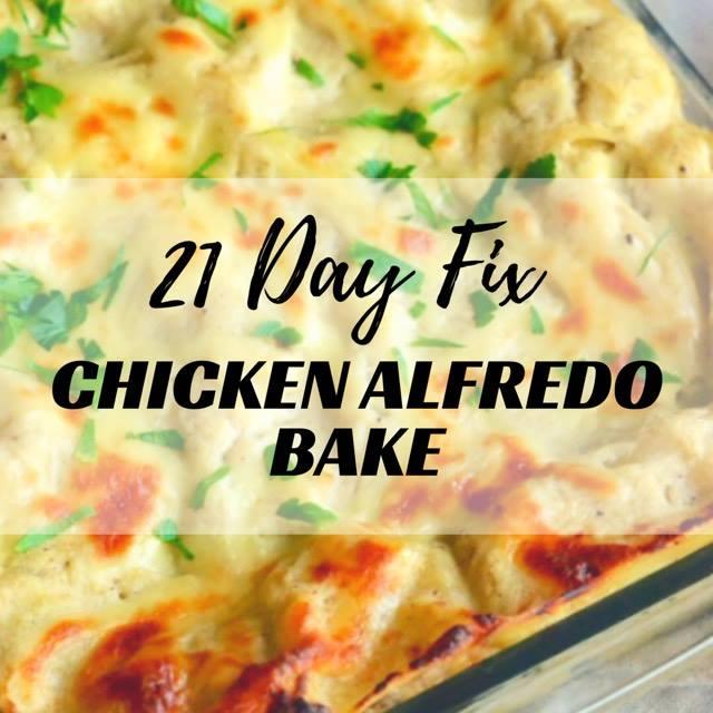 8 Day Fix Chicken Alfredo Bake